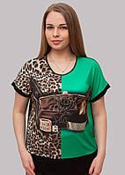 Качественная футболка с сумкой в стразах