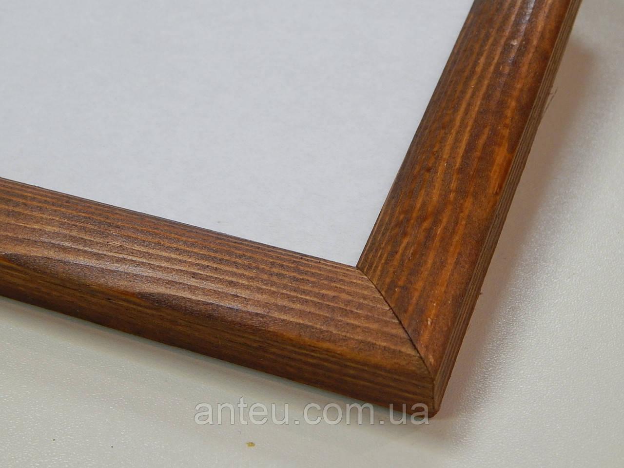Рамки дерев'яні (сосна).23 мм. Горіх.
