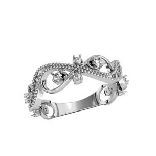 Кольцо  женское серебряное Филигрань 750090