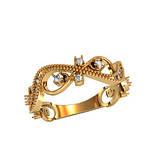 Кольцо  женское серебряное Филигрань 750090, фото 2