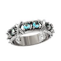 Кольцо серебряное Тифани TIFFANY & CO SIXTEEN STONE  210850
