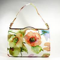 Сумочка, клатч белый с цветочным принтом Rose Heart 8637-1, расцветки в наличии