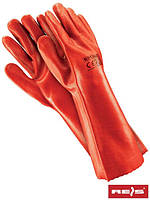 Защитные рукавицы изготовленные из ПВХ и заканчивающиеся манжетой RPCV40 C