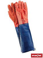 Защитные рукавицы изготовленные из ПВХ и заканчивающиеся рукавом RPCV60-FISH CN