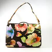 Сумочка, клатч черный с цветочным принтом Rose Heart 8637-1, расцветки в наличии