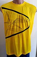 Мужская футболка желтая спорт р.52
