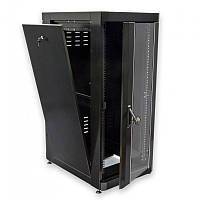 "Шкаф 19"" 24U. 610 х 865 мм (Ш*Г). черный"