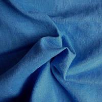 Лен натуральный цветной - цвет голубой