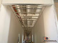Монтаж металлического потолка армстронг