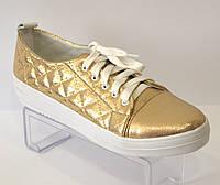 Кеды женские золотые El Passo 1429/015