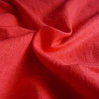 Лен натуральный цветной - цвет красный