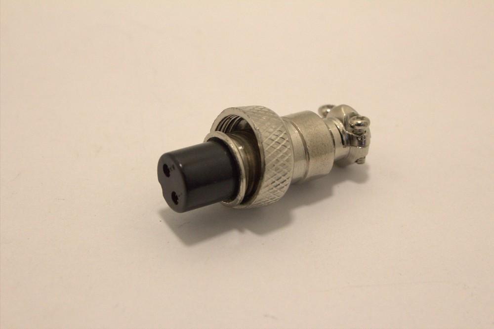 Разъём цилиндрический GX12-2 гнездовой, монтаж на кабель