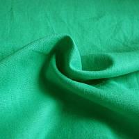 Лен натуральный цветной - цвет зеленый