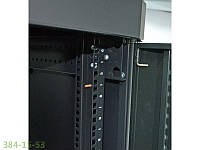 """Шкаф 19"""" 42U. 610х1055 мм (Ш*Г). усиленная. перфорированные двери (66%).черный"""