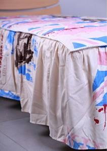 Покрывало 1,6 с юбкой в ткани Англия беж