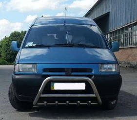 Кенгурятник WT003 (нерж) Peugeot Expert 1996-2007 гг.
