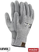 Перчатки защитные, изготовленные из пряжи HDPE R-CUT3-PU BWS