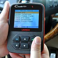 Мультимарочный сканер для диагностики авто Launch Creader VI+, OBD2, USB-порт для зарядки/перепрошивки