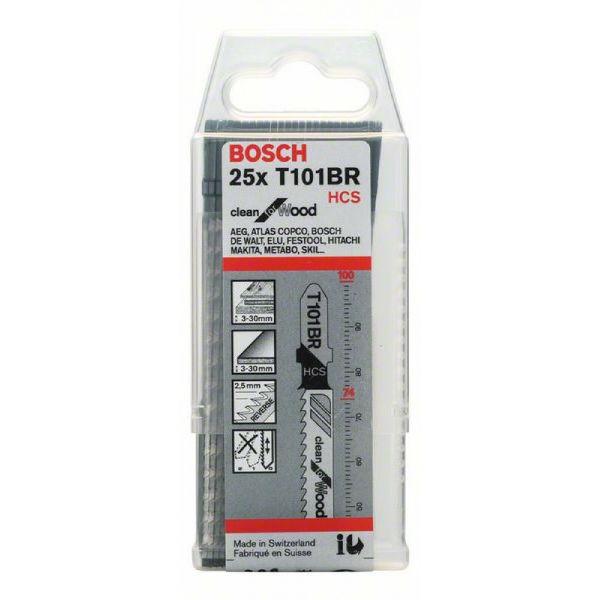 Пилки лобзиковые Bosch 25 шт T 101 BR, HCS