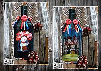 Украинский сувенир, подарок в украинском стиле, бутылка