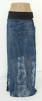 Юбка сетка темная бирюза