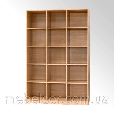 Шкаф-стеллаж книжный трехсекционный КШ-3