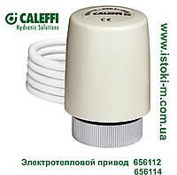 Электротепловой привод со вспомогательным микровыключателем нормально закрытый CALEFFI 24В 656114, фото 1