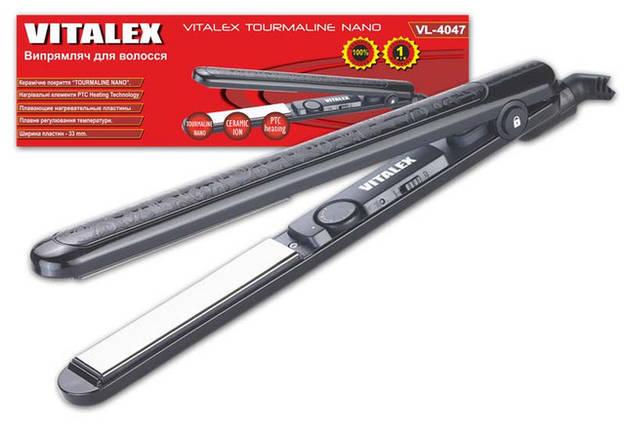 Утюжок для укладки волос Vitalex VL-4047 профессиональная плойка для укладки тонкая керамическая, фото 2