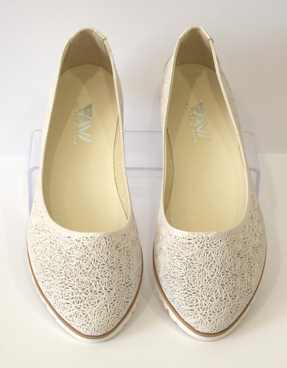 5c288728a Балетки женские летние белые FAVI 240/2 - КРЕЩАТИК - интернет магазин обуви  в Александрии
