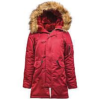 Женская зимняя куртка аляска Alpha Industries N-3B W Parka WJN44502C1 (Commander Red)
