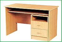 Стол письменный с полкой + тумбочка с 2- ящиками и нишей