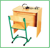 Стол ученический для лингафонного кабинета одномесный