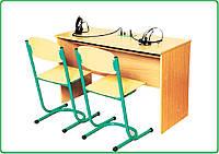 Стол ученический для лингафонного кабинета двухмесный