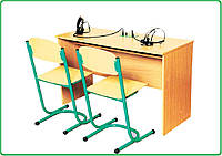 Стол ученический для лингафонного кабинета двухмесный, фото 1