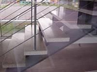 Устройство мозаичных лестничных маршей и ступеней  из  мраморной крошки