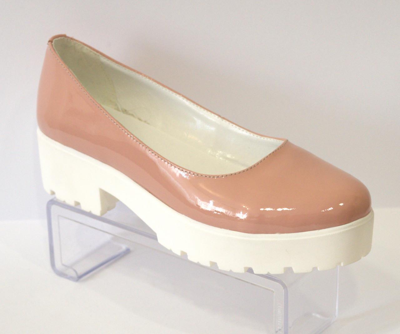 Туфли женские пудровые Olli 3-10120