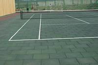 Резиновая плитка для теннисного корта