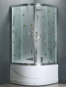 Душевая кабина полукруглая Atlantis A-035C 90x90 с высоким поддоном