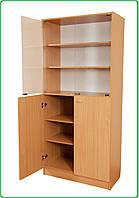 Шкаф книжный со стеклянными дверцами (С-027)