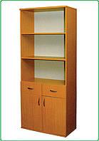 Шкаф книжный, с 2 ящиками, 2-дверный