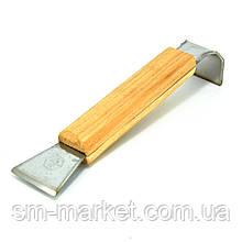 Стамеска пасічна з нержавіючої сталі 160мм з дерев'яною ручкою
