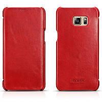 Чехол для Samsung Galaxy S6 Edge - Icarer Vintage Series, красный