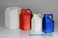 Пластиковые канистры под заказ различных цветов