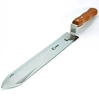 Нож JERO двусторонняя заточка с деревянной ручкой 280 мм.