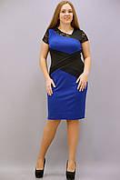 Платье Мадлен дайвинг с гипюром супер батал