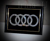 """Картина из страз """"Audi"""", 10х15"""