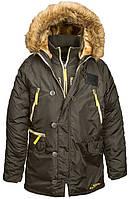 Оригинальная куртка аляска Alpha Industries N-3B Inclement Parka MJN44512C1 (Replica Grey), фото 1