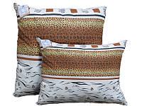Подушка с шариковым силиконом, бязь, Леопардовая абстракция (50х50 см.)