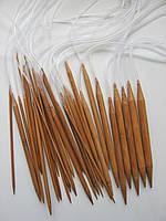 Набор бамбуковых спиц 14 см, на леске 50 см. 18 пар