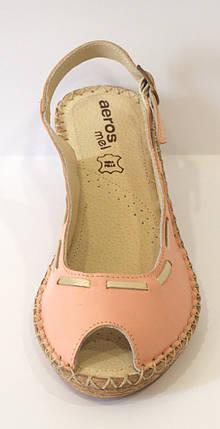 Босоножки женские розовые Aeros 16-102, фото 2
